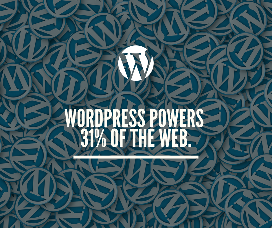 Wordpress powers 31 of the web.