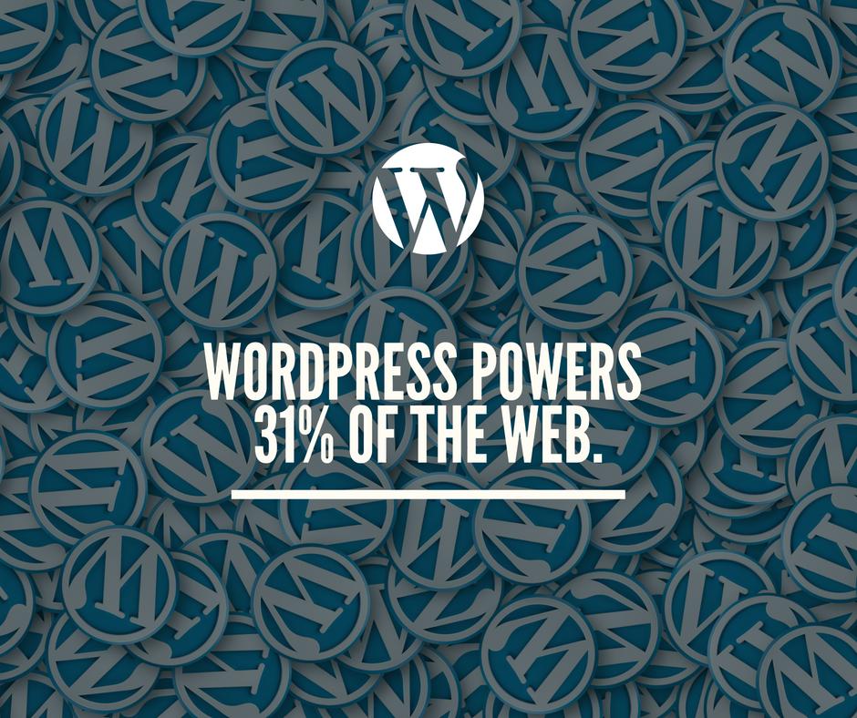Wordpress powers 31 of the web.