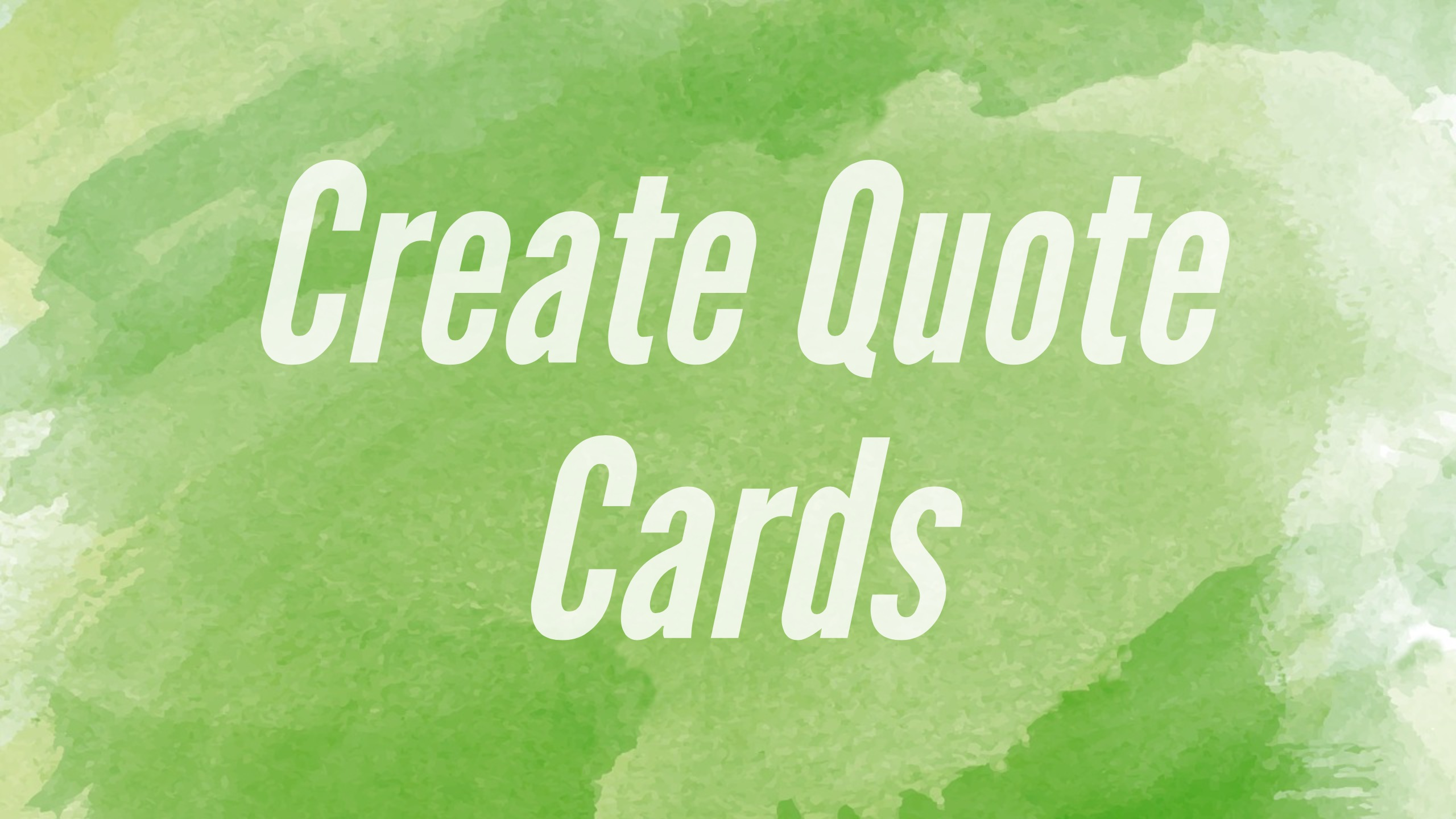 create quote cards